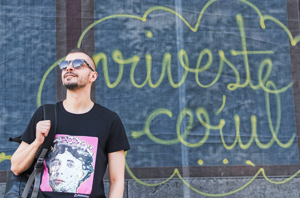 Ovidiu Muresanu wearing Proud To Be Romanian Tshirt