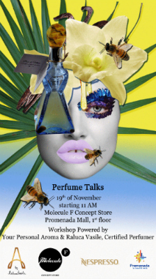 Workshop powered by Your Personal Aroma   19 Noiembrie   11 AM   Molecule F Concept Store