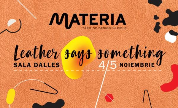 MATERIA sustine comunitatea creativilor care lucreaza in piele
