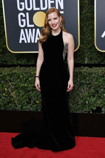 Jessica Chastain in custom Armani Privé