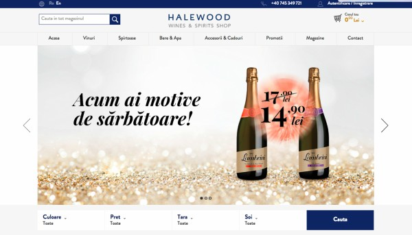 Halewood Wines & Spirits disponibil acum si in online