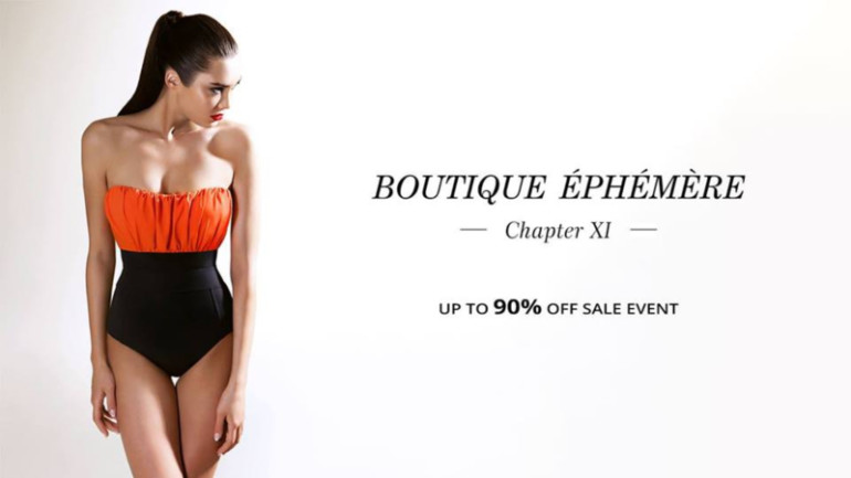 90% Off Sale Event | Boutique Éphémère XI