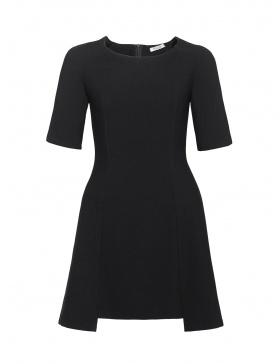 Antonia Mini Dress with Geometric Cut at Hem Line