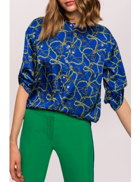 Satin printed shirt