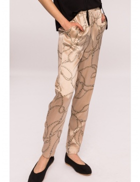 Slim printed pants