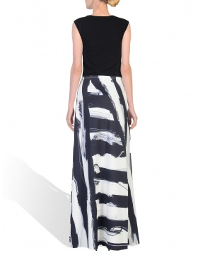 Long Digitally Printed Skirt