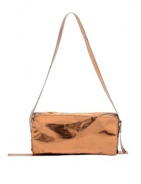 Geometrical leather bag