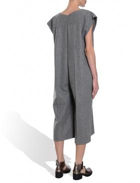 Oversized grey overalls