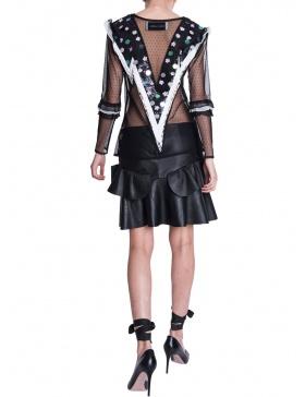 Serene leather skirt