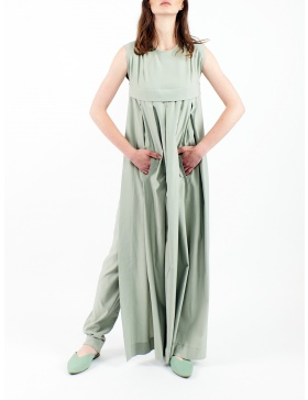 2 in 1 jumpsuit with dress on the front