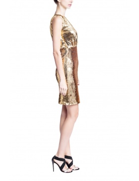 Rolled Gold Dress