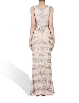 Hand embroided long dress