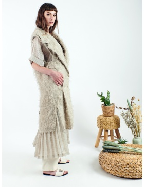 Organic structured long vest