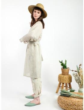 Linen semi-transparent kimono