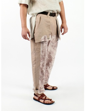 Pants printed with Sandra Chira drawings