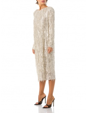 Sequin Dress With Open Back