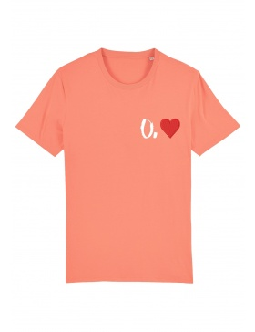 O. heart T-shirt - white writing