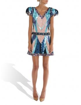 Stephany blue dress