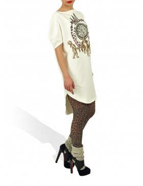 Long Princely T-Shirt The Gold Digger in Milk