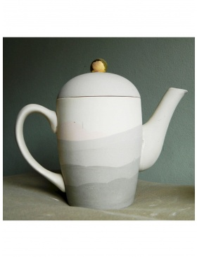 Grey Pastel teapot and tea cups set