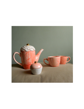 Delicate flower Teapot and tea cups set