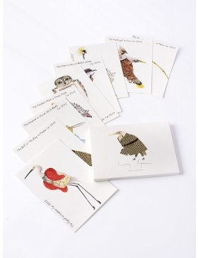 Fashion Birds postcards set #7