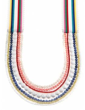 White Ribbon necklace