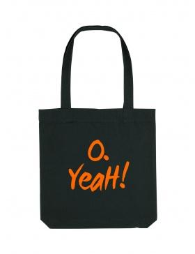 O. Yeah! Black Tote Bag