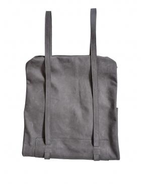 Grey nubuck bag