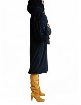 Dark ash hoodie dress