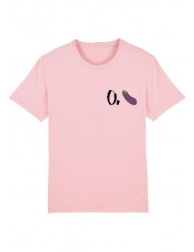 O. eggplant T-shirt - black writing