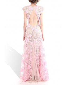 Oversized shoulders dress