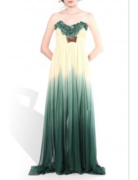 Long dress with petals