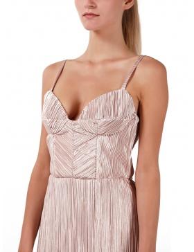 Nude pink asymmetric dress