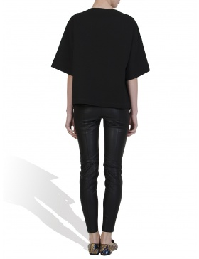 Oversized leather T- shirt