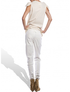 White Kid pants