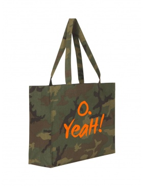 O. Yeah! Camouflage Shopping Bag