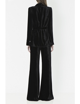 High waist velvet flared pants