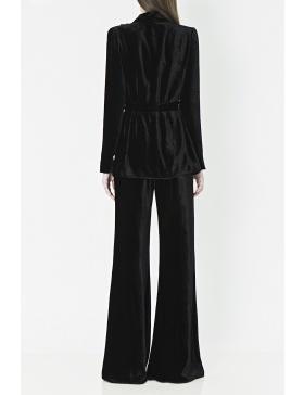 Black Victorian-inspired silhouette blazer.