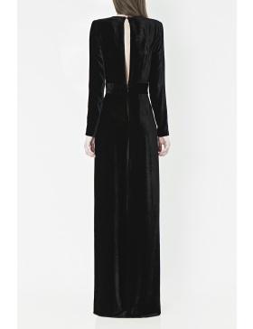 Deep V-Neck Gown
