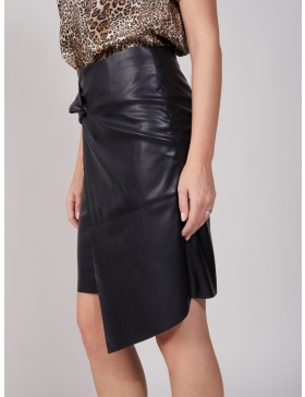 Agile Ecological Leather Black Skirt