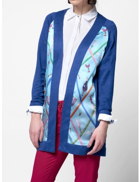 SILK CARDIGAN INTO THE BLUE