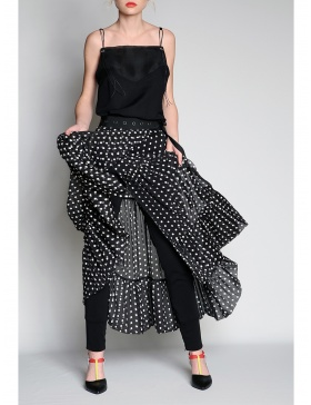 Black & white dots skirt