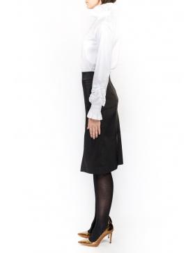 Black dotted cloth short skirt