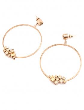 Circle Shape Bling earrings