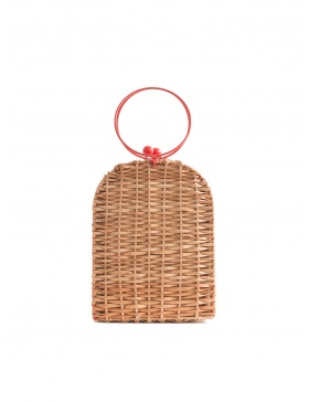 Cherry Wicker Bag Tall