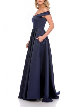 NAVY RETRO MAXI DRESS