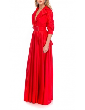BLACKTIE TRENCH RED DRESS