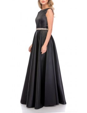 BARE BACK TAFFETA DRESS