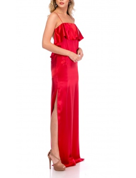 RED SILK SLIPDRESS